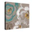Brushed Petals III (Teal) Canvas Wall Art