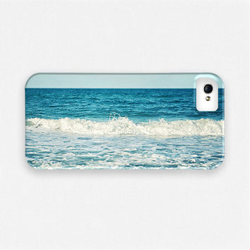 iPhone 5 Case, iPhone 4 Case, Ocean iPhone Case, Nautical, Aqua, Turquoise, Wave, Teal, Beach iPhone Case, iPhone 4, iPhone 5.