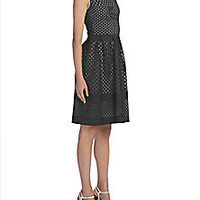 Fendi - Sleeveless Eyelet Fit-&-Flare Dress - Saks Fifth Avenue Mobile