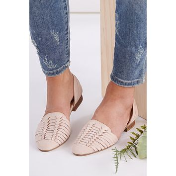 Daytime Look Woven Flats (Nude)