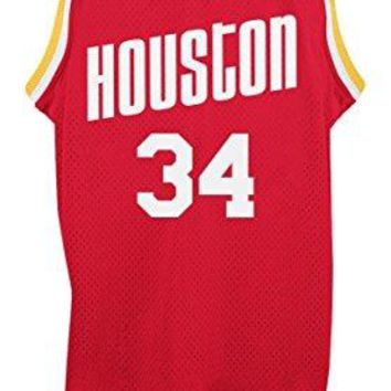 Hakeem Olajuwon Houston Rockets Adidas NBA Throwback Swingman Jersey - Red