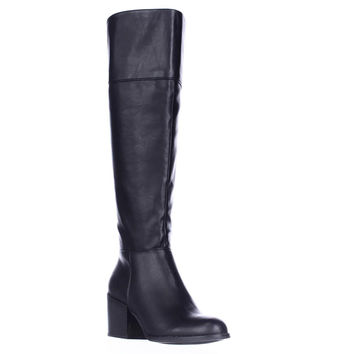 madden girl Wendiee Knee High Boots - Black
