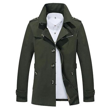 Men's Windbreakers Casual Trench Slim Fit Brand Overcoat Business Coat Fashion Five Colors Spring and Autumn PLus Size Gent Life