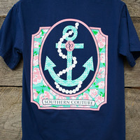 Pearl Anchor Tee | Southern Couture