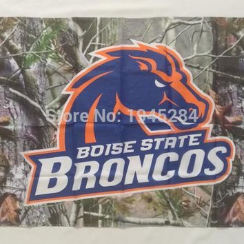 Boise State Broncos Real Tree Camo Flag Banner New 3x5ft 90x150cm Polyester NCAA 9859, free shipping