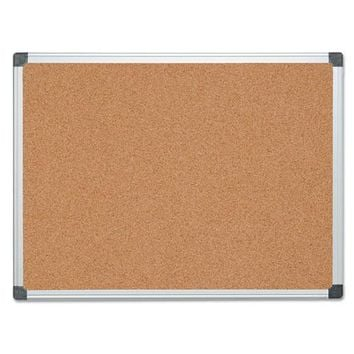 MasterVision® Value Cork Bulletin Board with Aluminum Frame