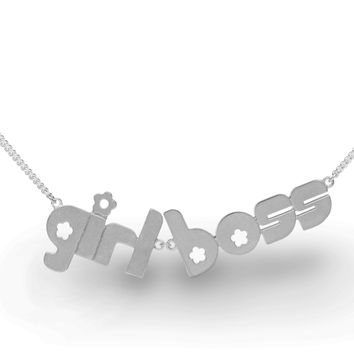 girl boss - sterling silver necklace