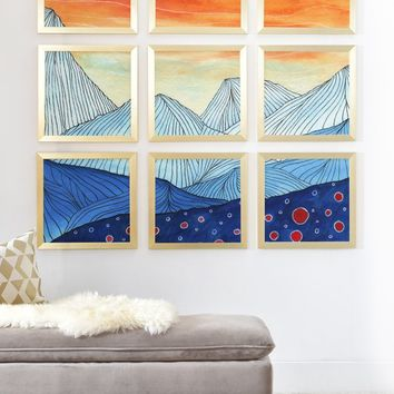 Viviana Gonzalez Lines in the mountains III Framed Wall Mural | DENY Designs Home Accessories
