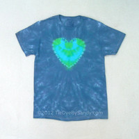 Earth Day Heart Tie Dye Shirt- Small
