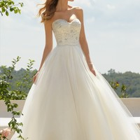 Voyage by Mori Lee 67491 Lace Tulle Wedding Dress