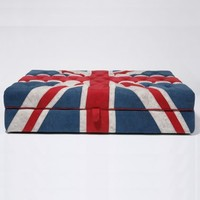 Shoreditch Union Jack Ottoman  |  Big Stools  |  Seating  |  French Bedroom Company