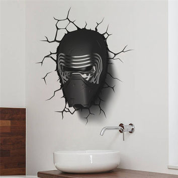 star war Darth Vader portrait wall stickers kids room decor 1480. 3d diy home decals movie mural art cartoon print posters 3.5