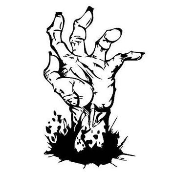 Zombie Hand  Vinyl Car/Laptop/Window/Wall Decal