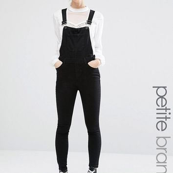 New Look Petite Denim Dungaree at asos.com