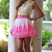 Highlight My Life Skirt: Neon Pink | Hope's