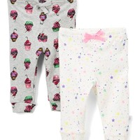 Blue Cupcake & Stars Two-Piece Pants Set - Newborn & Infant