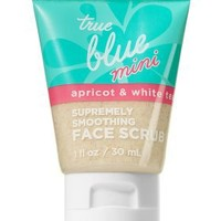 Travel-Size Supremely Smoothing Face Scrub with Apricot & White Tea - True Blue?- Spa - Bath & Body Works