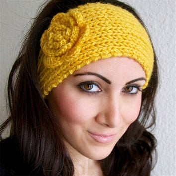 Flower Hairband Women's Knitted Headwrap Knitting Crochet Headband Ear Warmers for Girls Teens Women hair accessories HO852469