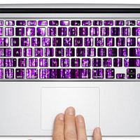 macook sticker keyboard decal/ avery macbook keyboard cover/ macbook decal sticker / Laptop keyboard cover Decal