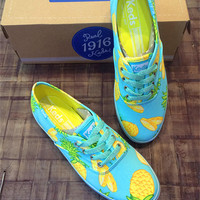 Pineapple Printed Canvas Shoes
