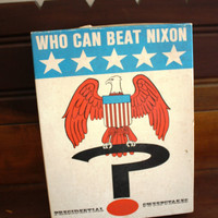 "Vintage ""Who Can Beat Nixon"" Board Game"