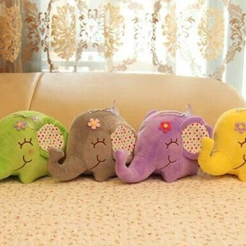 Super Kawaii BIG Floral Elephant 12CM Approx. DOLL Plush Stuffed TOY DOLL Sucker Car & Room & Window Pendant Bouquet TOY DOLL