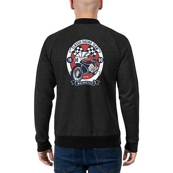 Vintage Retro Streetwear Bomber Jackets for Men Classic Racing Team