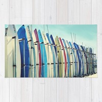 California surfboards Rug by sylviacookphotography