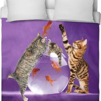 ROB Cat Attack Duvet Cover