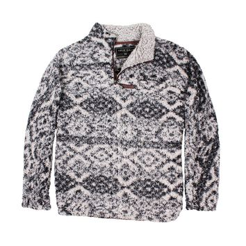 Frosty Tipped Tribal Pile 1/4 Zip Pullover in Charcoal by True Grit