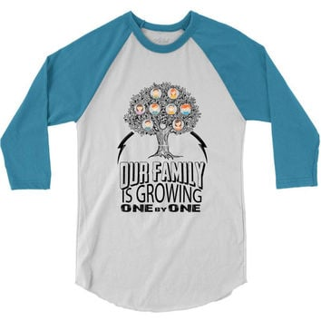 Our Family Is Growing One By One 3/4 Sleeve Shirt