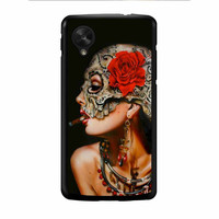 Floral Sugar Skull Cigarettes Nexus 5 Case