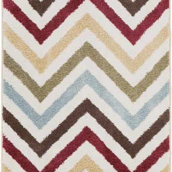 Horizon Geometric Area Rug Yellow, Red, Blue