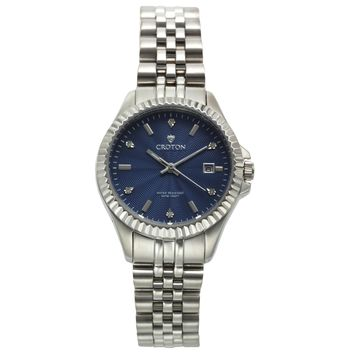 Croton Womens Stainless steel Silvertone Diamond Marker Watch