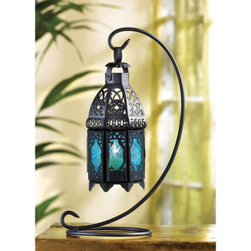 Candle Lantern-Sapphire Nights Tabletop