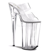 Two Band Clear Slide 10 Inch Platform Shoe