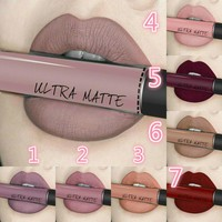 Sexy 7 Colors Long Lasting Waterproof Ultra Matte Liquid Lipstick Moisturizer Beauty Makeup Christmas Gift QD112001