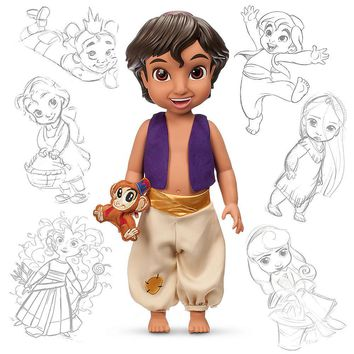 "Licensed cool Disney Store 16"" Aladdin Prince ABU Animators Collection Toy Toddler Doll Figure"