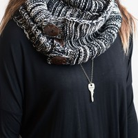 Knits All Good Black Infinity Scarf - Final Sale