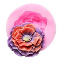 1PC Small Silicone Soap Mold 3D Rose Round Fondant Resin Craft Candy Chocolate Mold DIY Cupcake Baking Tools