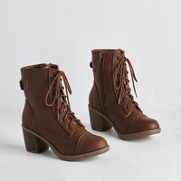 Military Where There's a Willamette Boot in Cocoa by ModCloth