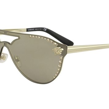 Versace Women's Shield Aviator Sunglasses