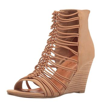 Coconuts by Matisse Parade Taupe Stacked Wedge
