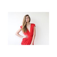 Red Dress, Evening Maxi Dress