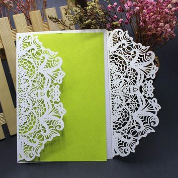Hollow Art Craft Wedding Invitation Card Kit