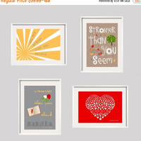 Halloween Sale Winnie the Pooh Quote You Are Braver than You Believe Nursery Print Quote 4 prints set in yellow, taupe, grey and red