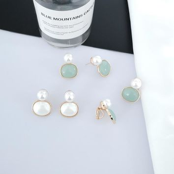 Fashion non pierced earrings clip on earring imitation pearl for women lady party elegant