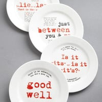 ModCloth Sayings Gourmet Grammarian Plate Set