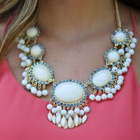 Keep Me Next To You Necklace: Ivory | Hope's
