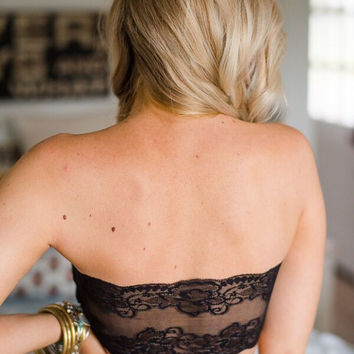 Laced-Back Bandeau Bra
